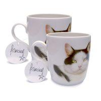 Franciens Katten set van 2 mokken Black &  White cat