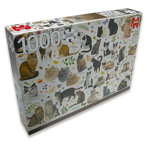 Puzzel Verschillende kattenrassen-0