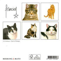 Franciens Katten kaartenmapje KATTEN