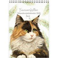 Franciens Katten maandnotitiekalender A4 NOORTJE 2020