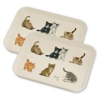 Franciens Cats set of 2 serving leaves (bamboo)