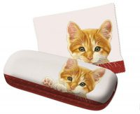 Franciens Cat eyewear case with extra wipe