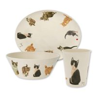 Franciens Cat Breakfast Set (bamboo)