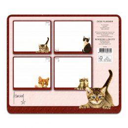 Franciens Katten bureauplanner en notitieblok