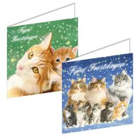 Franciens Cats Christmas Boxje CHRISTMAS NIGHT-CATS FAMILY
