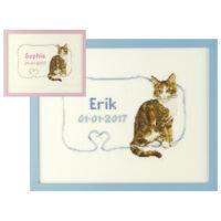 Franciens Katten borduurpakket GEBOORTE