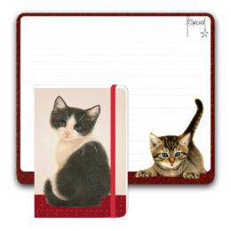 Franciens Katten bureauplanner met notitieboekje